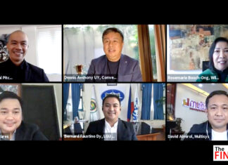 Converge CEO and Co-founder Dennis Anthony Uy (Top, Center) joins other captains of the industry who are on the look-out for fresh ideas and innovations at The Final Pitch Season 7. (From left, top row) show creator John Aguilar, Rosemarie Ong of Wilcon Depot (Second Row, from left) Jay Villarante of 8Ventures, Mayor Bernard Dy of Cauayan, Isabela and David Almirol of MultiSys
